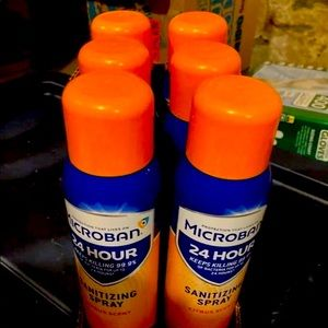 6 15oz bottles of Microban spray